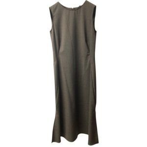 Kenneth Cole NY Brown Wool Sleeveless Dress